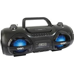 1 - MP3/CD Party Boom Box & USB/SD Card Player, 5-color LED
