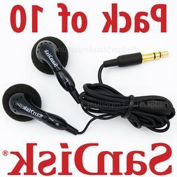 10 Pack Genuine SanDisk Earbuds In-Ear Earphone Headphones 4