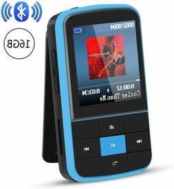AGPTEK 16GB Bluetooth 4.0 MP3 Player Supports Playlist FM Ra