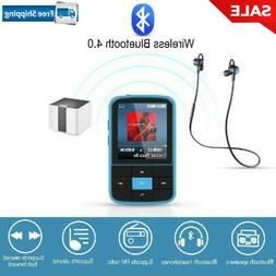 AGPTEK 16GB Bluetooth 4.0 MP3 Player, Wearable Clip Supports