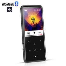 AGPTEK 16GB Bluetooth MP3 Player Lossless Sound with FM/Voic