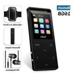 32GB Bluetooth MP3 Player with FM Radio/ Voice Recorder, 60
