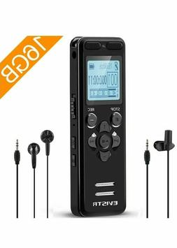 EVISTR 16gb Digital Voice Recorder 1536k Voice Activated Lin