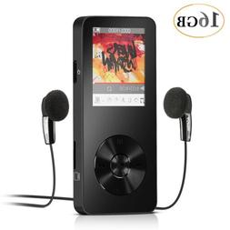 AGPTEK 16GB MP3 Player/Voice Recorder/FM Radio M28 Black