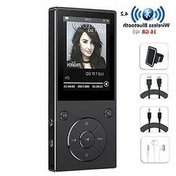 HONGYU 16GB MP3 Player with Bluetooth 2.4 Inch Color