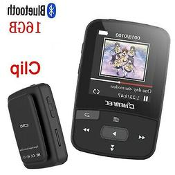 HONGYU 16GB MP3 Player with Bluetooth Portable Clip Sport Mp