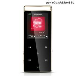 AGPTEK 16GB MP3 Player with FM Radio Record Support up to 12
