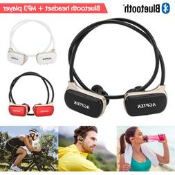 2 in 1 Sports MP3 Player Waterproof Stereo Bluetooth Headset