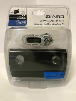 Craig 2GB MP3 Player With Portable Amplified Speaker  USB Ba