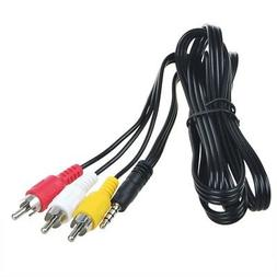 3.5mm to 3 RCA AV A/V TV Video Cable Cord Lead For Archos MP