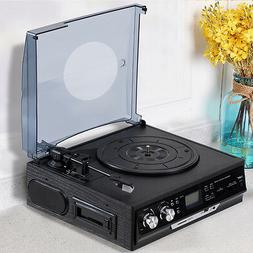 3 Speed Record Player RCA Output Turntable USB/SD MP3 Playba