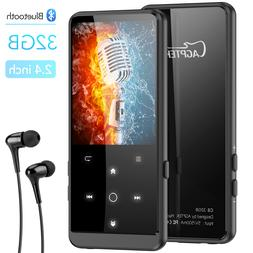 AGPTEK 32GB Bluetooth 4.0 Metal MP3 Player with 2.4'' TFT Co
