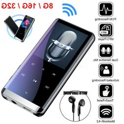 Bluetooth MP3 Player MP4 Media FM Radio Recorder HIFI Sport