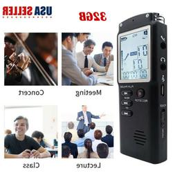 32GB Digital Voice Recorder USB MP3 Player Voice Activated D
