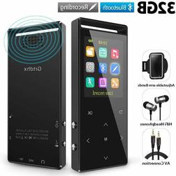 32GB Bluetooth MP3 Player with FM Radio/ Voice Recorder, 60