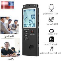 32GB Professional LCD Voice Sound Recorder USB MP3 Player Di