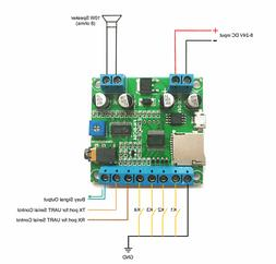 4 Buttons Triggered MP3 Player Board with 10W Amplifier and