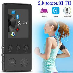 40 Hours Bluetooth MP3 MP4 Lossless Sound Music Player FM Re