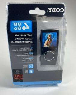 Coby 4gb Go Video Mp3 Player Mp601-4g 2.0 USB Black New seal