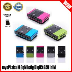 5 Color Mini USB Clip Digital Mp3 Music Player Support 8GB S