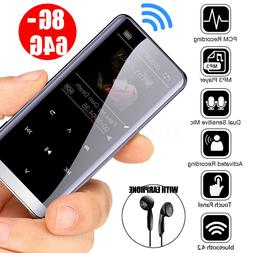 64GB bluetooth MP3 Player HIFI Sport Music Speakers MP4 Medi