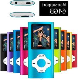 64GB Portable MP3 MP4 Player iPod Slim Music Video Audio Gad