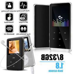8/32GB Bluetooth MP3 Player MP4 Media FM Radio Recorder HIFI