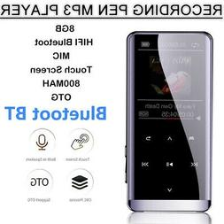 8GB 48 Hours Bluetooth  4.2 MP3 Hifi Touch Screen Lossless S