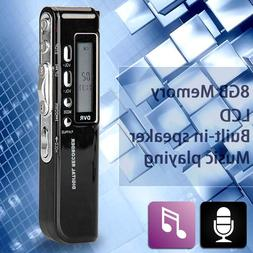 8GB 650Hr USB LCD Screen Digital Audio Voice Recorder Dictap