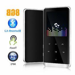8GB Bluetooth 4.2 MP3 MP4 Player Hi-Fi Touch Screen 800mAh S
