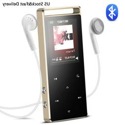 AGPTEK 8GB Bluetooth MP3 Player FM Radio with Touch Button S