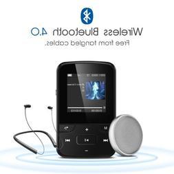 AGPTEK MP3 Player Bluetooth Clip 8GB FM Radio 1.5'' TFT Scre