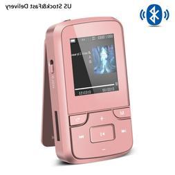 AGPTEK Clip MP3 Player Bluetooth 4.0 8GB Multi-function Musi