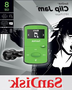 Sandisk 8GB Clip Jam MP3 Player - Green #SDMX26-008G-G46G Ne