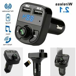 Bluetooth Car Kit FM Transmitter Wireless Radio Adapter USB