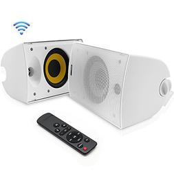 Dual Bluetooth Wall Mount Speakers - 6.5 Inch 300 Watt Pair