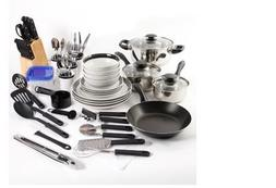 Essential Home Total Kitchen Cookware, Utensil 83 Pc Combo S