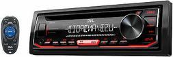 JVC KD-R490 Single-Din In Dash Car CD Receiver Stereo Radio