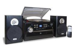 Jensen 3-speed Stereo Turntable Music System With Cd/cassett