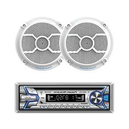 Power Acoustik MCD1-265 Marine CD/MP3 Player Bluetooth USB A