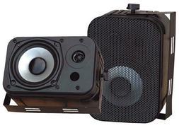 """Pyle Home Audio PDWR40B New 5.25"""" Indoor Outdoor Waterproof"""