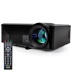"Pyle Updated Video  Projector 5"" - LCD Panel LED Cinema Ho"
