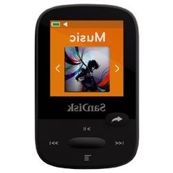 SanDisk Clip Sport 4GB MP3 Player, Black With LCD Screen and
