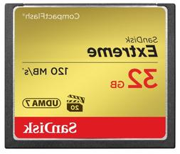SanDisk Extreme 32GB Compact Flash Memory Card UDMA 7 Speed