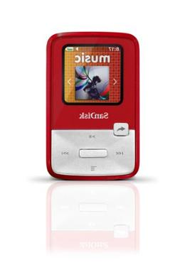 SanDisk Sansa Clip Zip 4GB MP3 Player, Red With Full-Color D