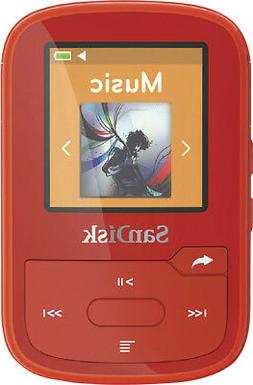 Sandisk - Clip Sport Plus 16gb* Bluetooth Mp3 Player - Red