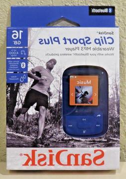 Sandisk - Clip Sport Plus 16gb* Mp3 Player - Blue