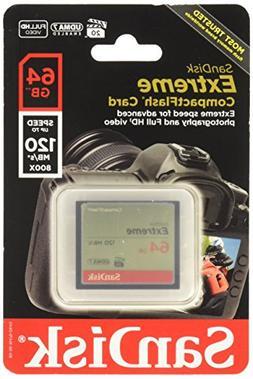 Sandisk Extreme CompactFlash Memory Card - 64 GB