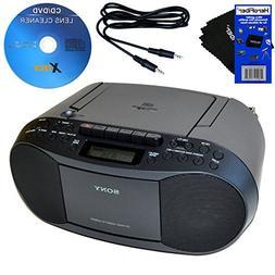 Sony CD Radio Cassette Recorder Bundled with AC Power Auxili