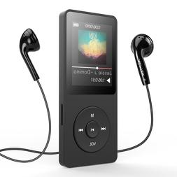 AGPTEK A02S 16GB MP3 Player with FM Radio, Voice Recorder, 7
